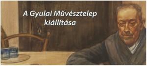 Milinó a Gyulai Művésztelep kiállítására. Szkelyhidi Attila akvarelljének részlete