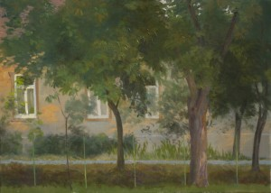 Bodor Z.: Délutáni fény (olaj, vászon, 50x70 cm) 2009.