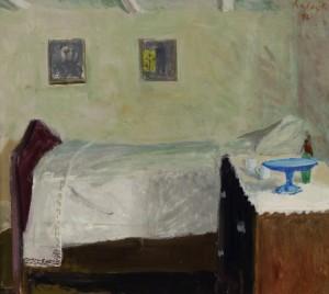 Szalay Ferenc: Fehér terítős szobabelső