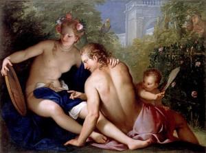 Gregorio Lazzarini: Rinaldo és Armida (olaj, vászon, 161x121 cm)