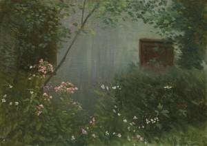 Bodor Z.: Draskóczyék kertje I. (50x70 cm, olaj, vászon) 2012.