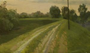 Bodor Z.: Töltés (30x50 cm, olaj, vászon) 2012.