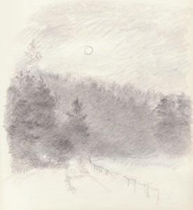 Bodor Z.: A nap áttör a ködön (ceruza, papír)