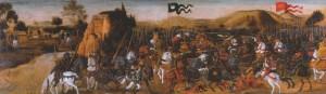 Verrocchio: A püdnai csata (tempera, fa, 51x159 cm)