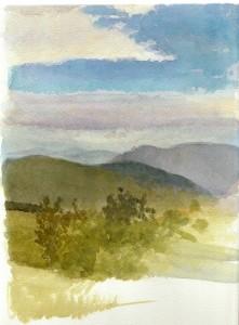 Aztán meg ilyen volt az idő (akvarell, papír, 280x208 mm)