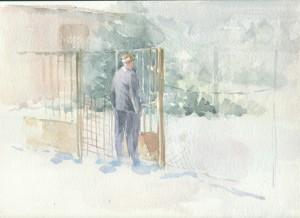 akvarell, papír, 23x30,5 cm