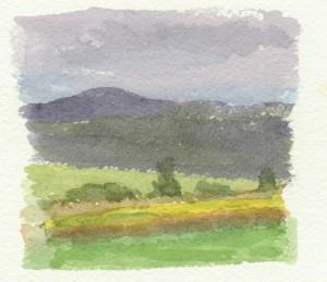 Először ilyen volt az idő (akvarell, papír, 95x105 mm)