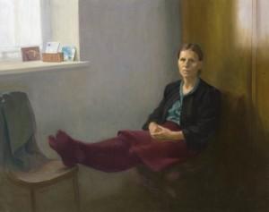Bodor Z.: Feleségem arcképe (olaj, vászon, 120x150 cm) 2012.