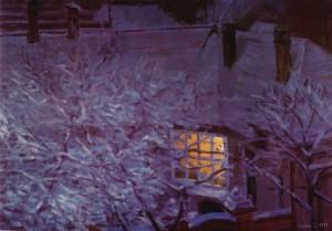 Bodor Z.: Fenylő ablak (olaj, vászon, 50x70 cm) 1999.