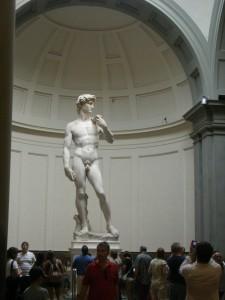 Michelangelo: Dávid (márvány, magasság 436 cm)