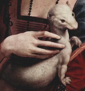 Leonardo: Hölgy hermelinnel (részlet)