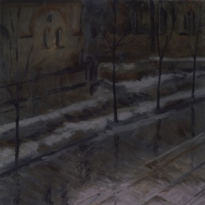 Bodor Z.: Ónoseső (olaj, vászon, 60x60 cm) 1999.