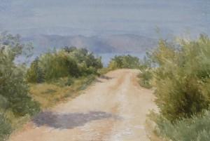Bodor Z.: Hegyi út (akvarell, papír, 36x53 cm) 2016.