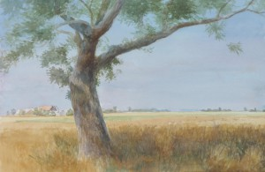 Bodor Z.: Árnyék és forróság (akvarell, papír, 35x54 cm) 2017.