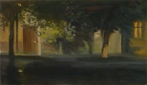 Esti fények II. (30x50 cm, olaj, vászon)