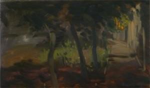 Esti fények I. (30x50 cm, olaj, vászon)