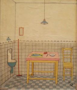 Czimra Gyula: KOnyhai csendélet (olaj, farost, 35x30 cm) 1962.