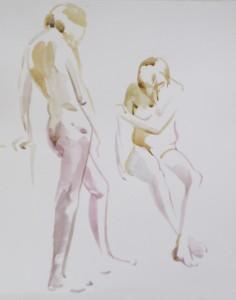 Bodor Z.: Kroki (akvarell, papír) 2012.