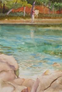 Bráda Tibor: Bodor Z. fest (akvarell, papír, 490x335 mm)