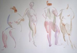 Bodor Z.: 2x15 perc (akvarell, papír, 38x56 cm)