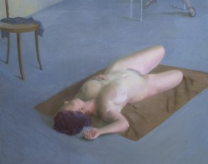 Bodor Z.: Akt (olaj, vászon, 120x150 cm)