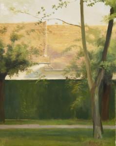 Bodor Z.: Napsütés makói tetőkön (olaj, vászon, 50x40 cm)