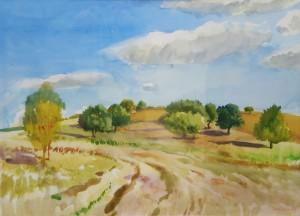 Bráda Tibor festménye (akvarell, papír) 2013.