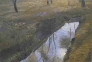 Bodor Z.: Vizesárok (olaj, vászon, 50x70 cm)