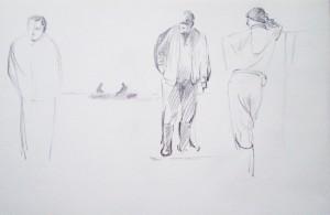 Bodor Z.: Tanakodás (ceruza, papír)