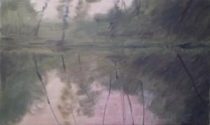 Bodor Z.: Mártélyi naplemente III. (30x50 cm olaj, vászon)