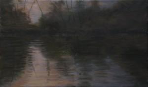 Bodor Z.: Mártélyi naplemente IV. (30x50 cm olaj, vászon)