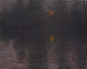 Bodor Z.: Mártélyi naplemente II. (40x50 cm olaj, vászon)