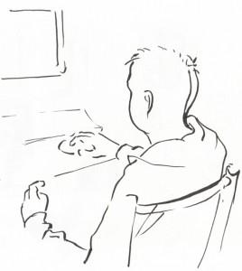 János (filctoll, papír, 191x171 mm)