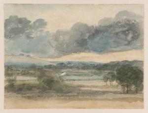 Constable kisméretű akvarellje