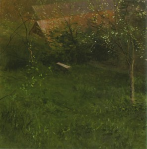 Vázlat tavasszal (olaj, vászon, 80x80 cm) 2008.
