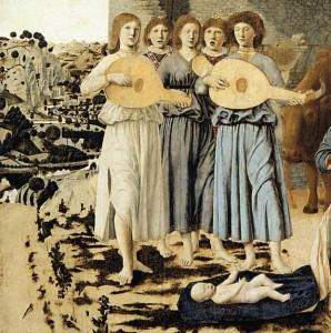 Piero della Francesca: Jézus születése (részlet)
